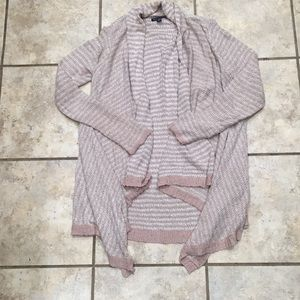Mauve Pink and cream cascading cardigan